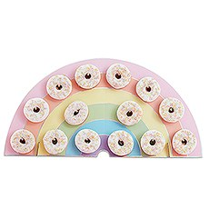 Donut Wall Display - Pastel Rainbow