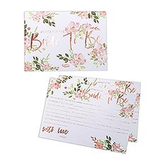 Bride To Be Advice Cards - Floral