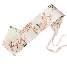 Bachelorette Party Sash - Floral Bride To Be