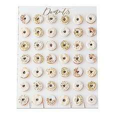 Large Donut Wall Display - White & Gold