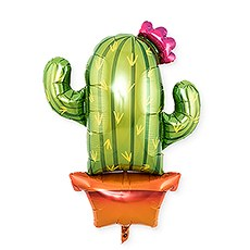 Mylar Foil Helium Party Balloon Decoration - Cactus