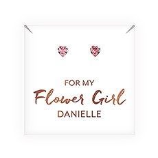Swarovski Crystal Heart Stud Earrings - Flower Girl