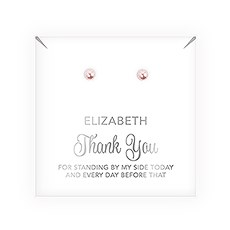 Swarovski Pearl Stud Earrings - Thank You Script