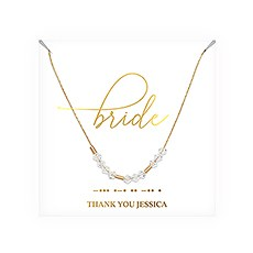 Personalized Swarovski Crystal Morse Code Necklace - Bride