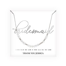 Personalized Swarovski Crystal Morse Code Necklace - Bridesmaid