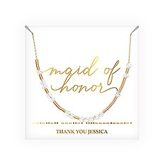 Personalized Swarovski Crystal Morse Code Necklace - Maid of Honor