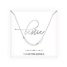 Personalized Swarovski Crystal Morse Code Necklace - Bestie