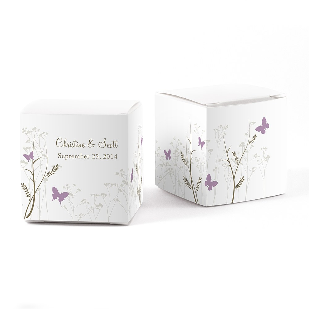 Romantic Butterfly Wedding Favor Box Wrap