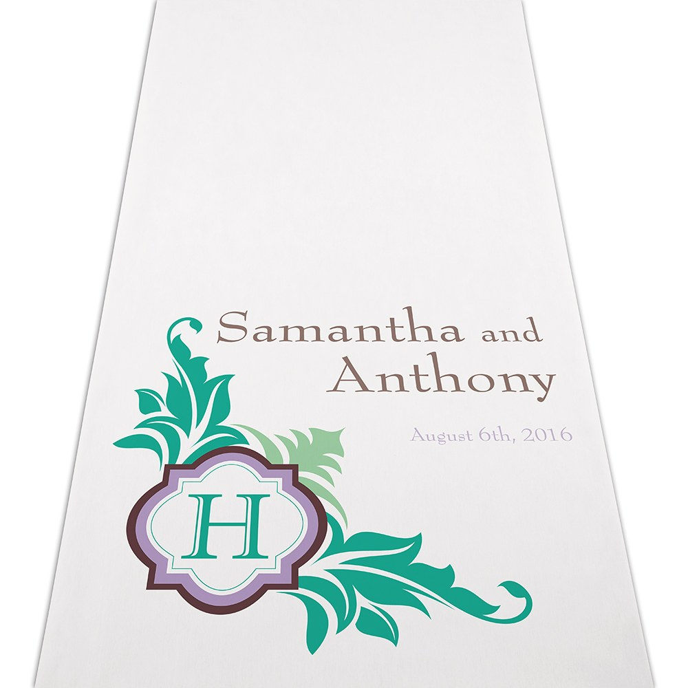 Lavish Monogram Personalized Wedding Aisle Runner