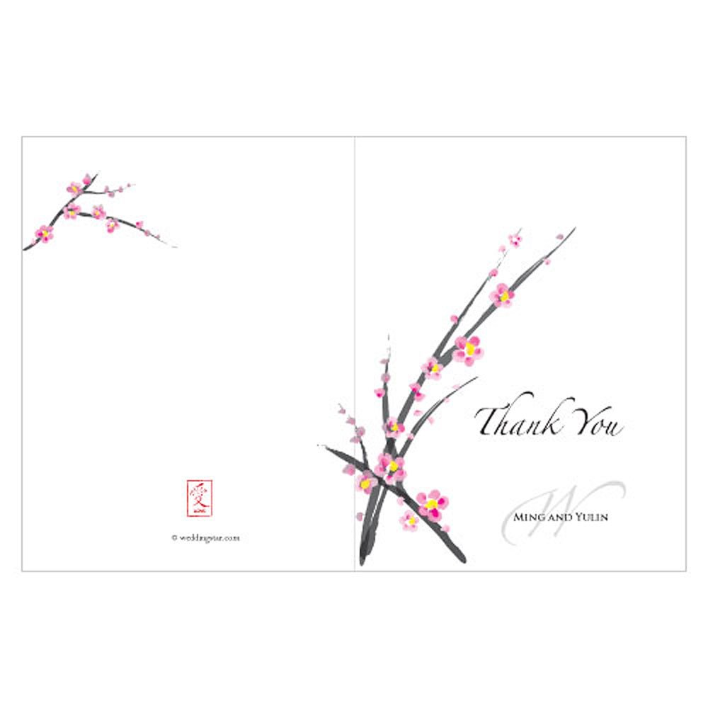 Cherry Blossom Wedding Thank You Card