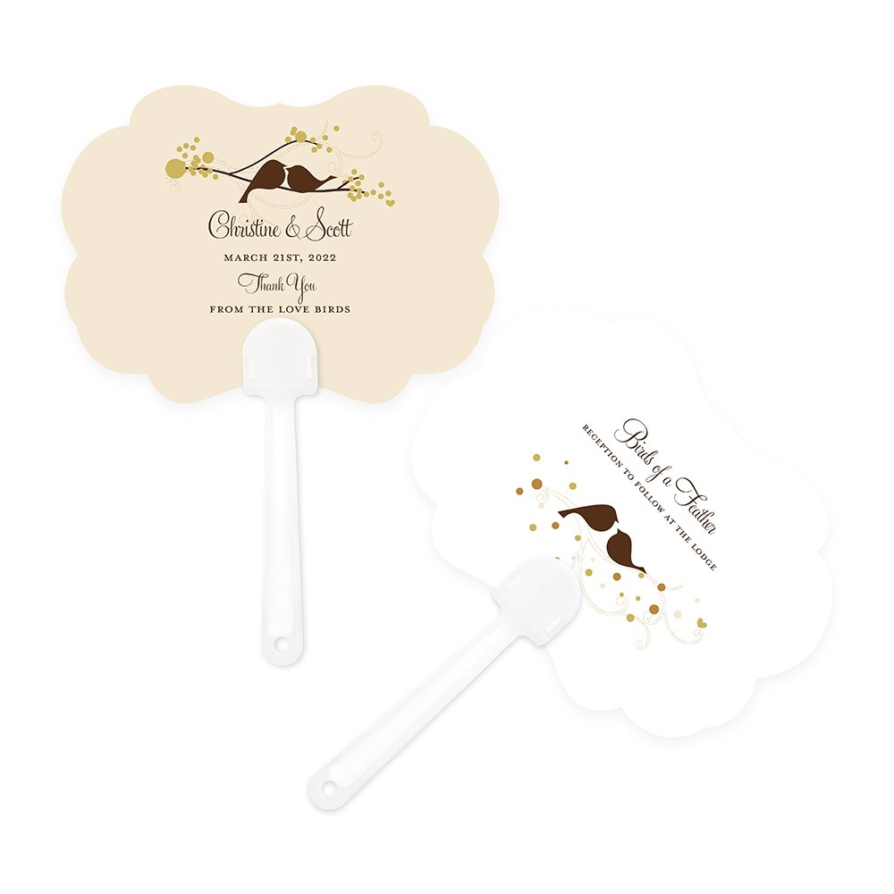 Love Bird Hand Fan Wedding Favor