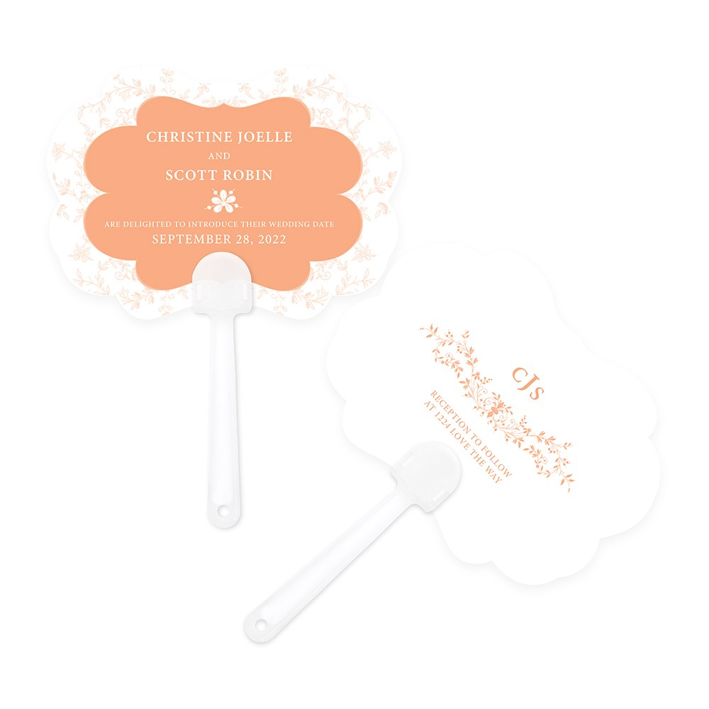 Forget Me Not Hand Fan Wedding Favor