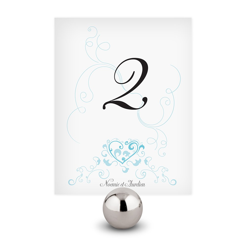 Heart Filigree Wedding Table Numbers