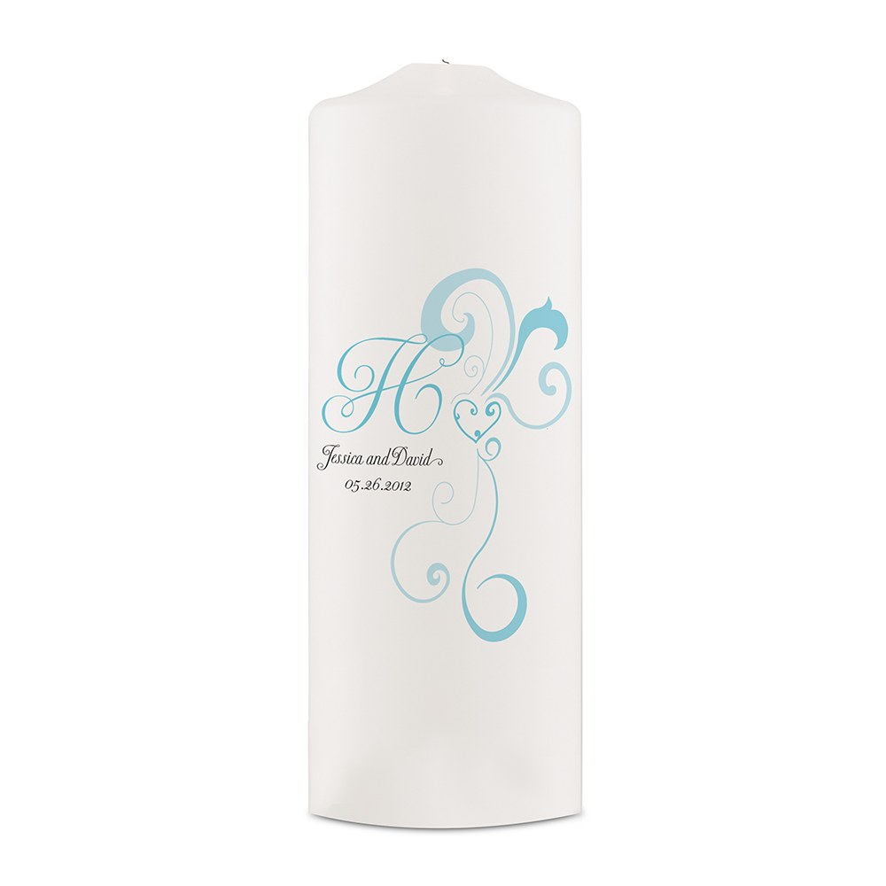 Heart Filigree Personalized Unity Candle