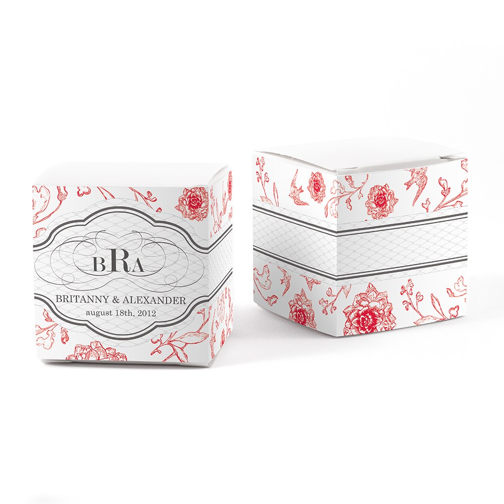French Whimsy Wedding Favor Box Wrap