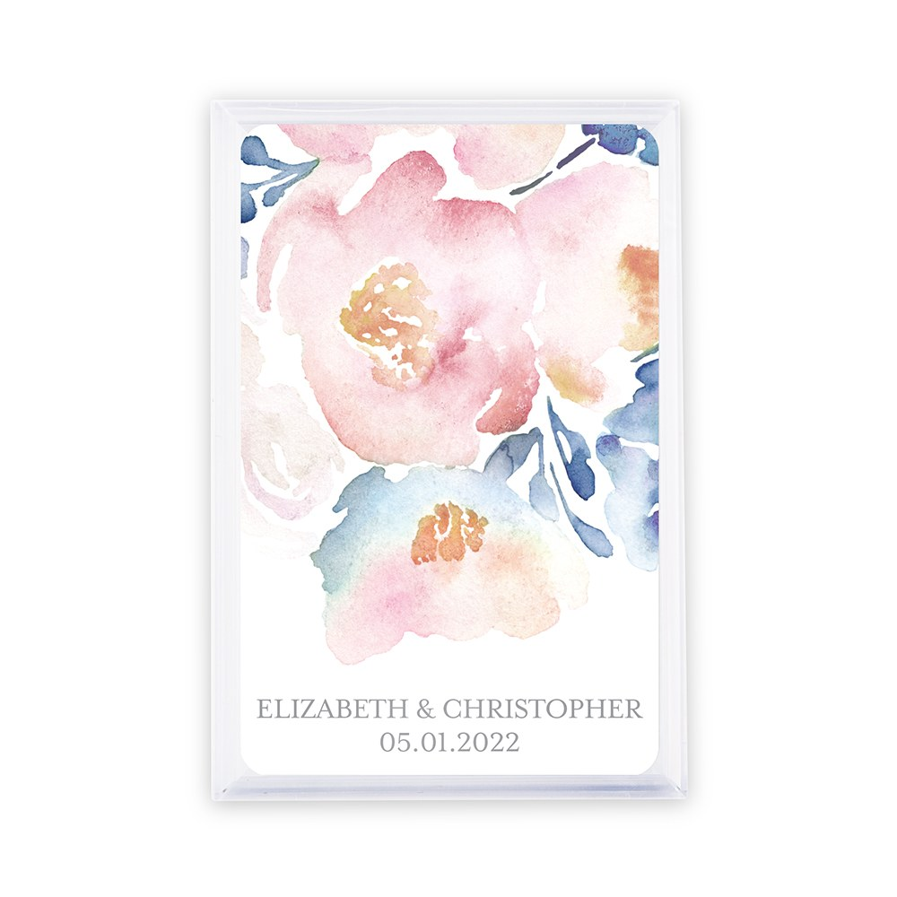 Unique Custom Playing Card Favor - Floral Garden Party