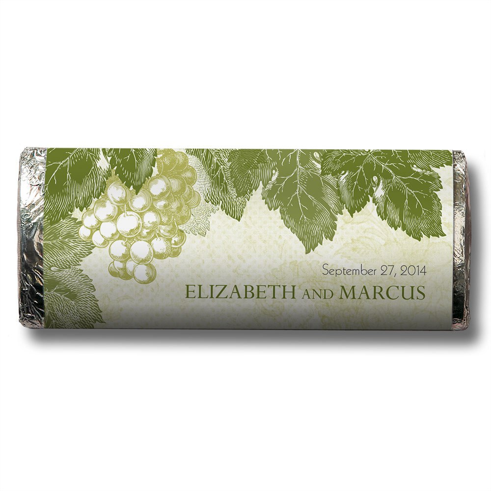 A Wine Romance Chocolate Bar Wedding Favor
