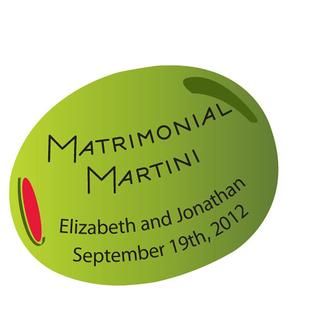 personalized martini sticker wedding accessories