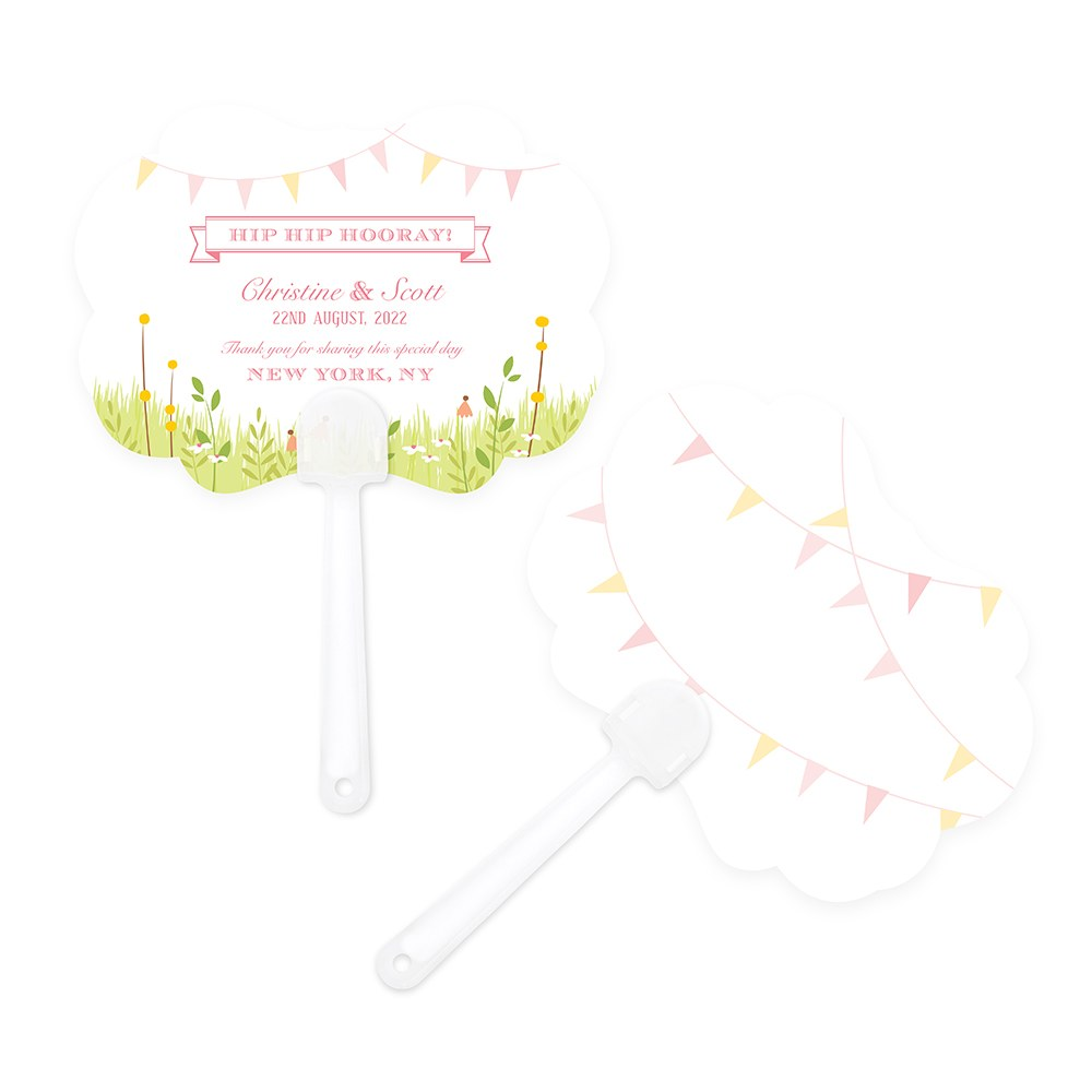 Homespun Charm Hand Fan Wedding Favor