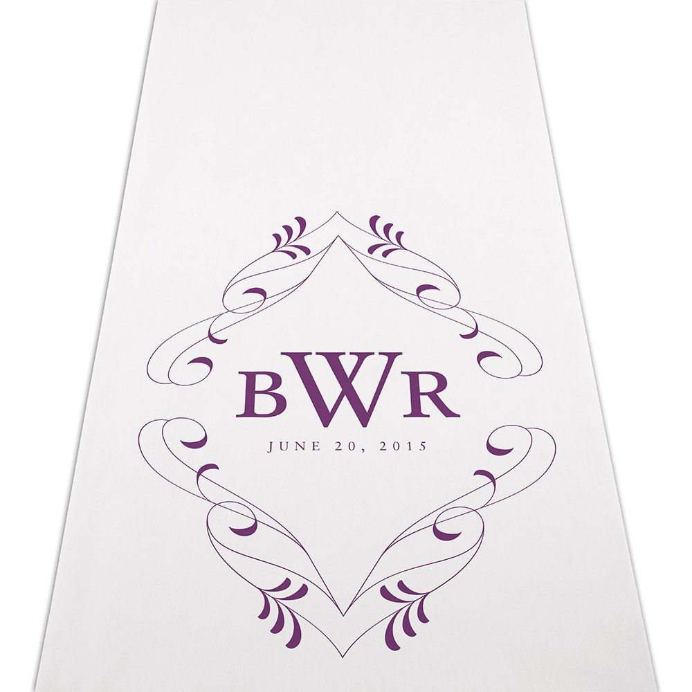 Flourish Monogram Personalized Wedding Aisle Runner