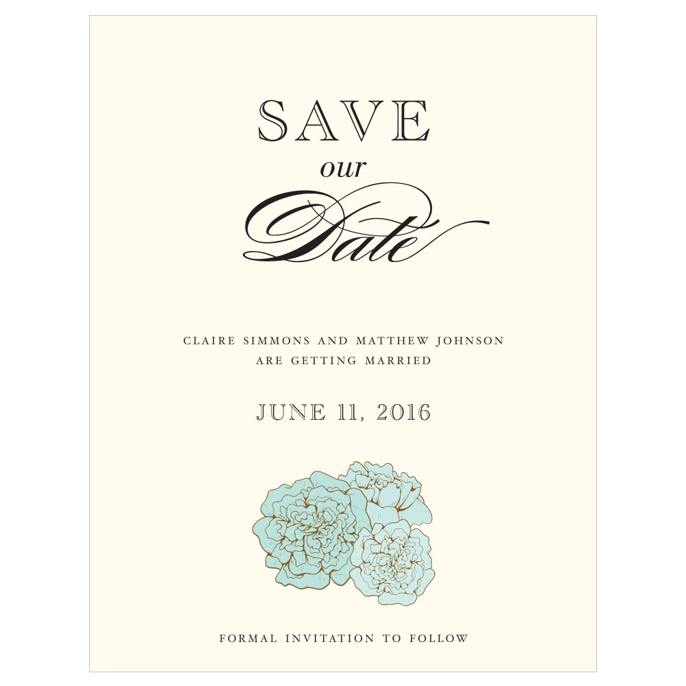 Burlap Chic Save The Date