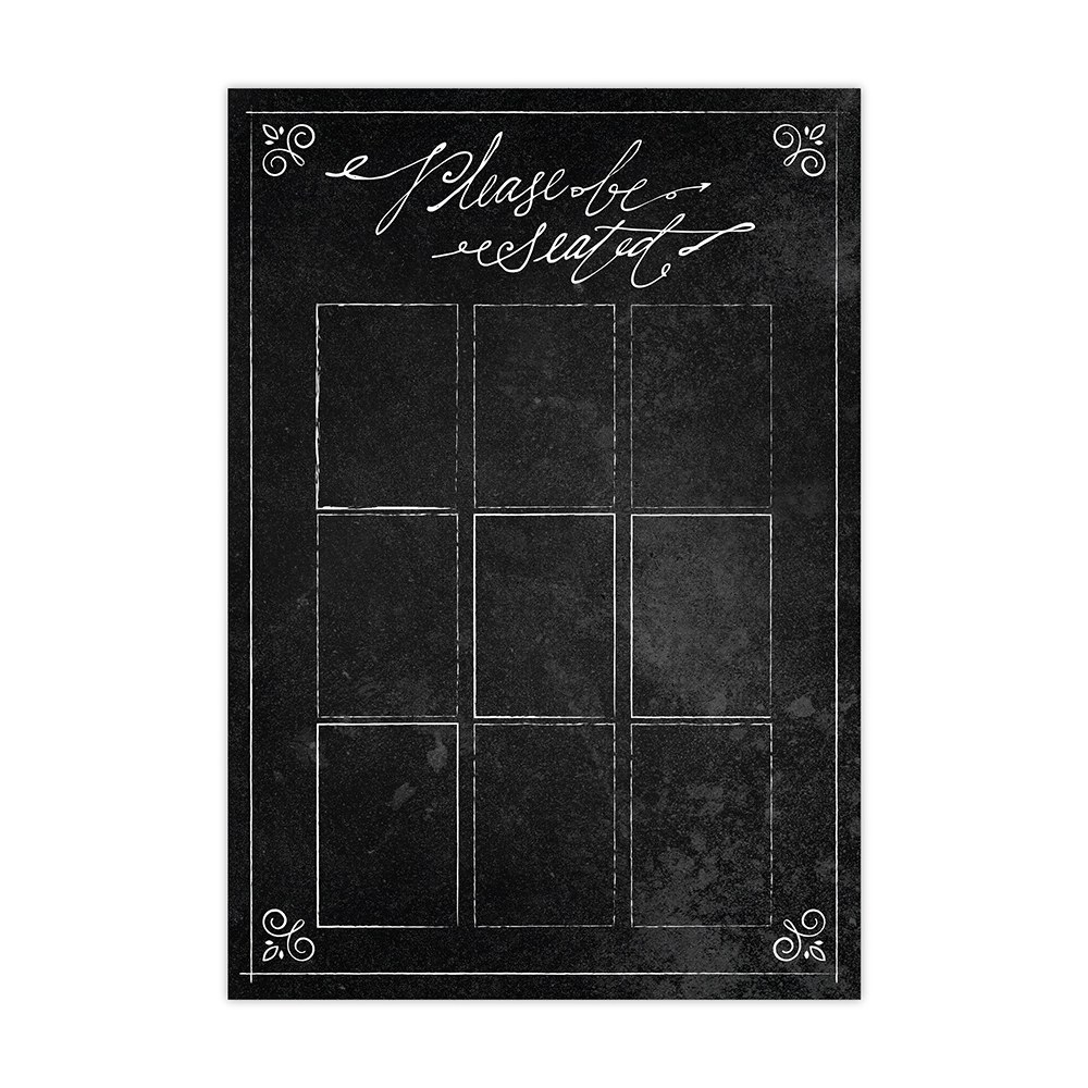 Personalized Seating Chart Kit With Chalkboard Print Design