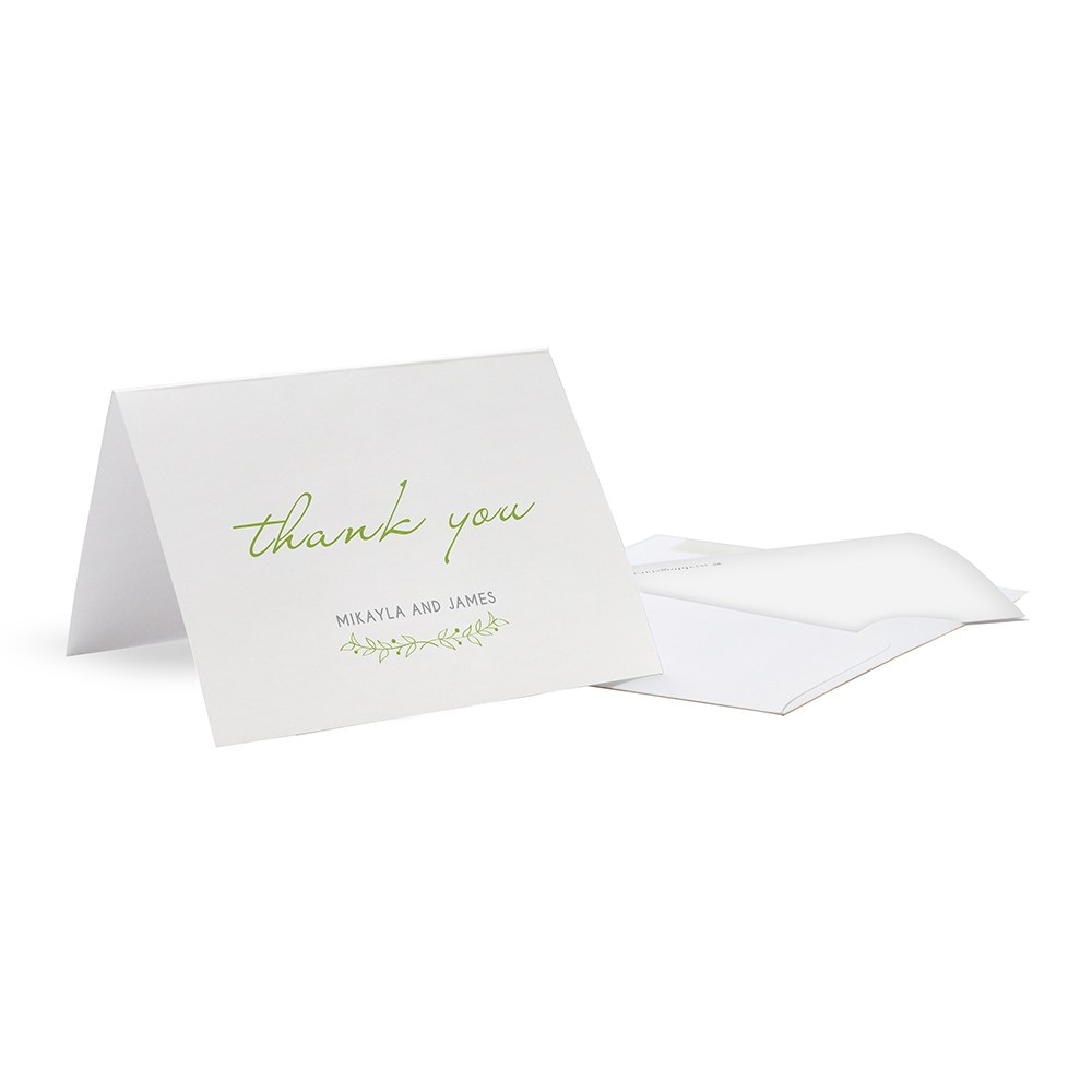 Woodland Pretty Thank You Card