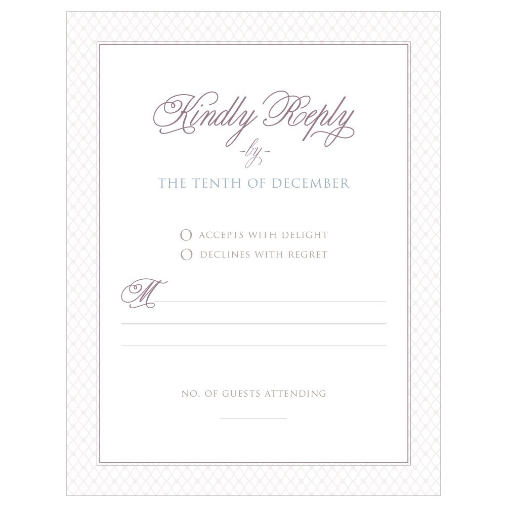 Contemporary Vintage RSVP
