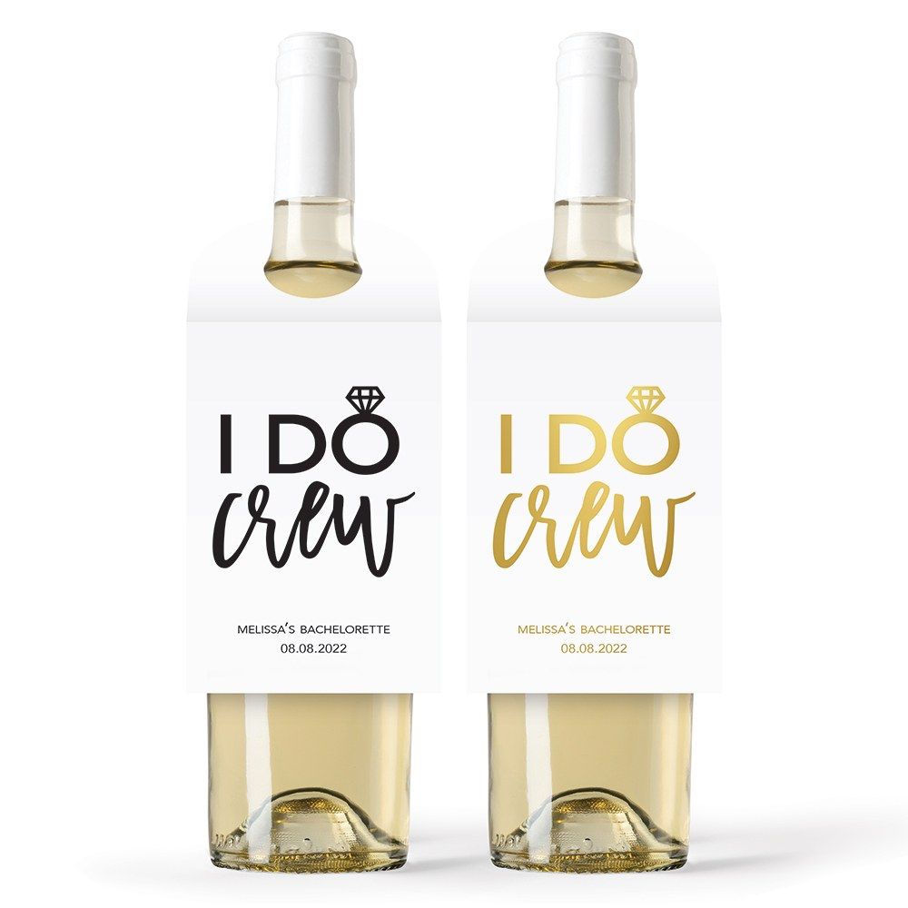 Personalized Wine Bottle Neck Hang Tags - I Do Crew
