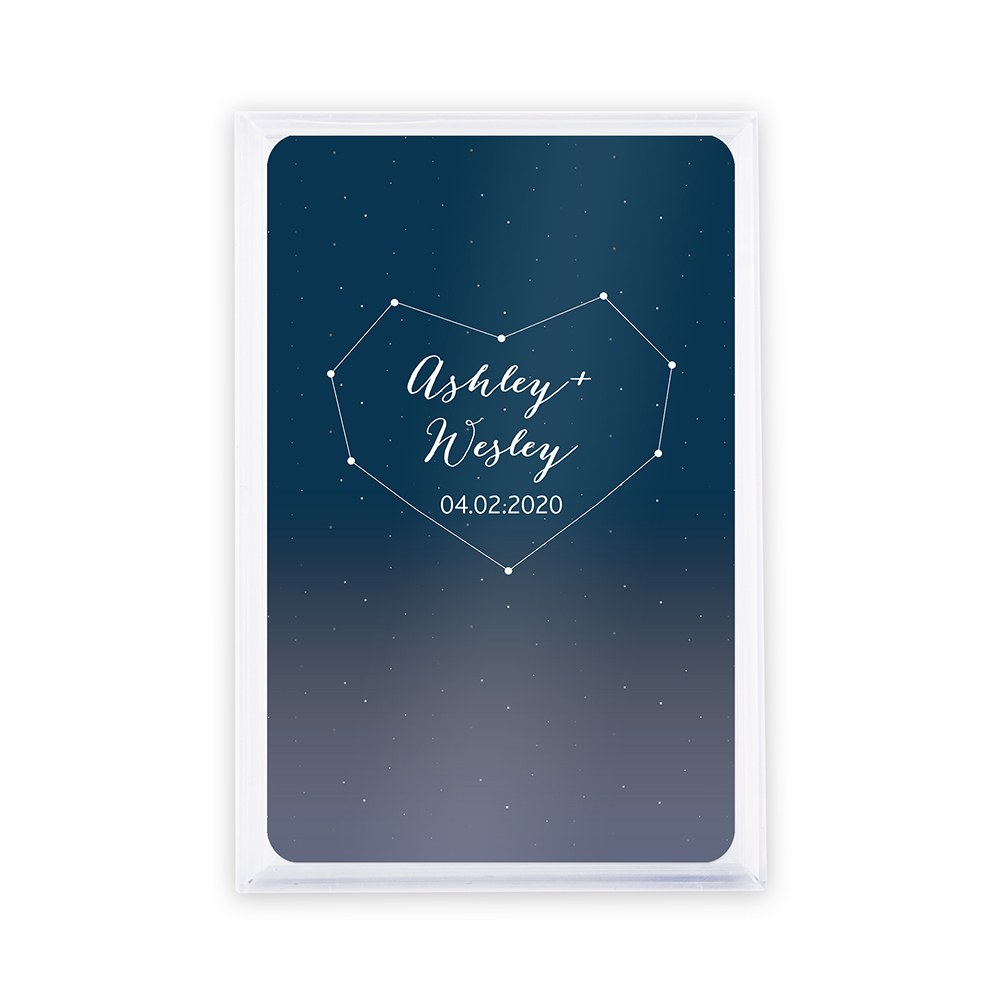 Unique Custom Playing Card Favors - Starry Night