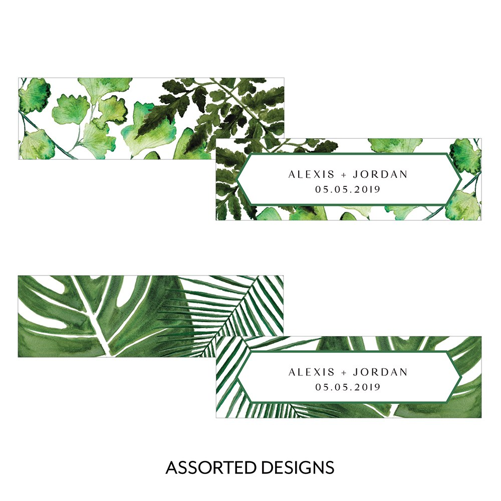 Greenery Rectangular Favor Tag Horizontal Assortment