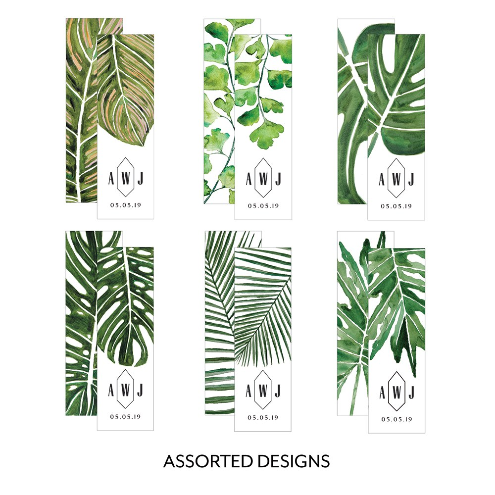 Greenery Leaf Rectangular Favor Tag Vertical Assortment