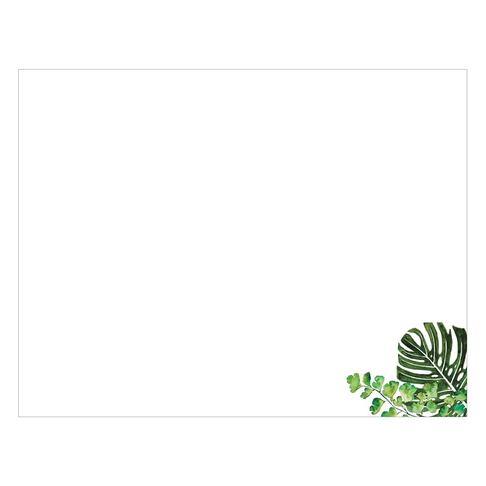Wedding Guest Book Sign-in Sheets - Blank Greenery