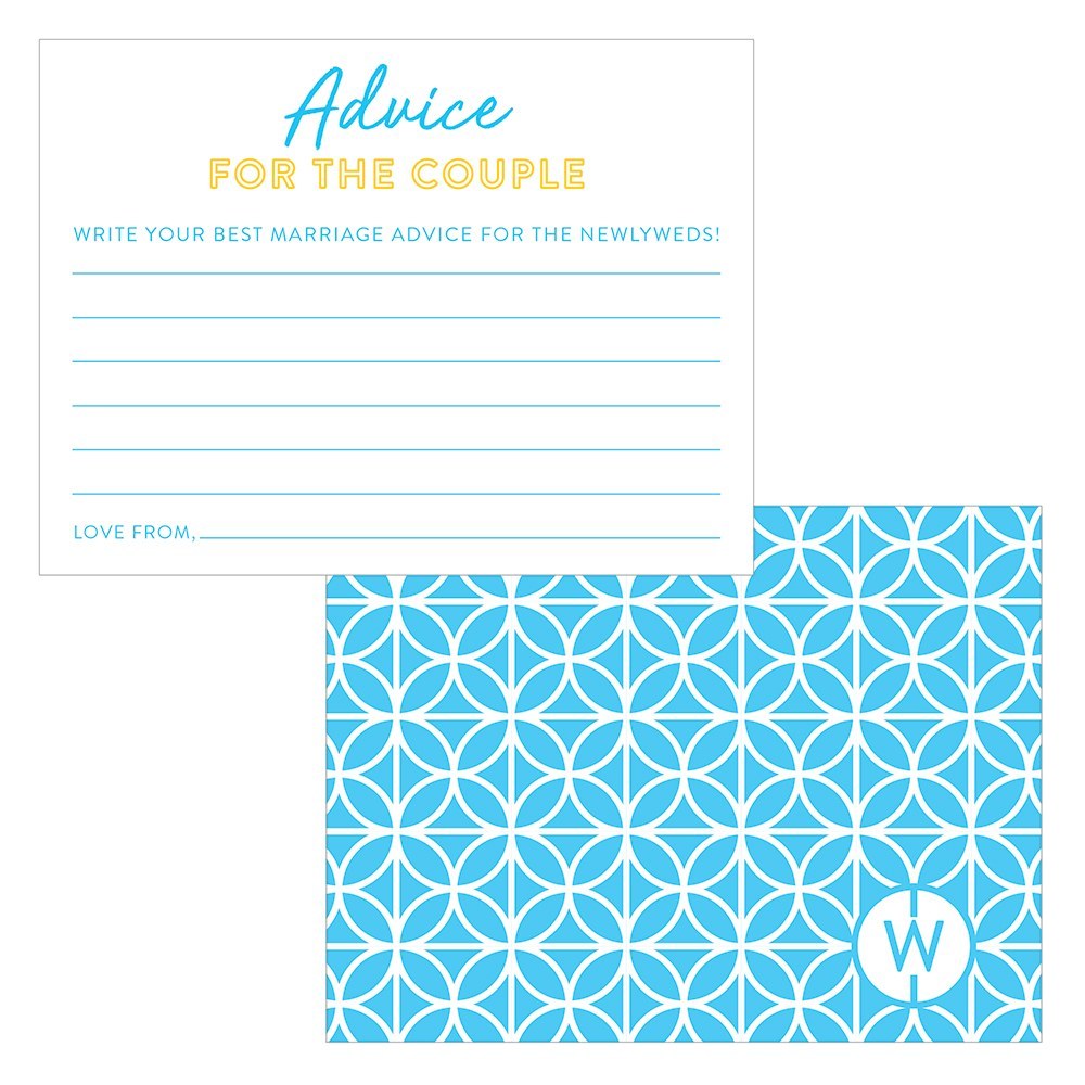 Summer Vibes Wedding Libs Advice Cards
