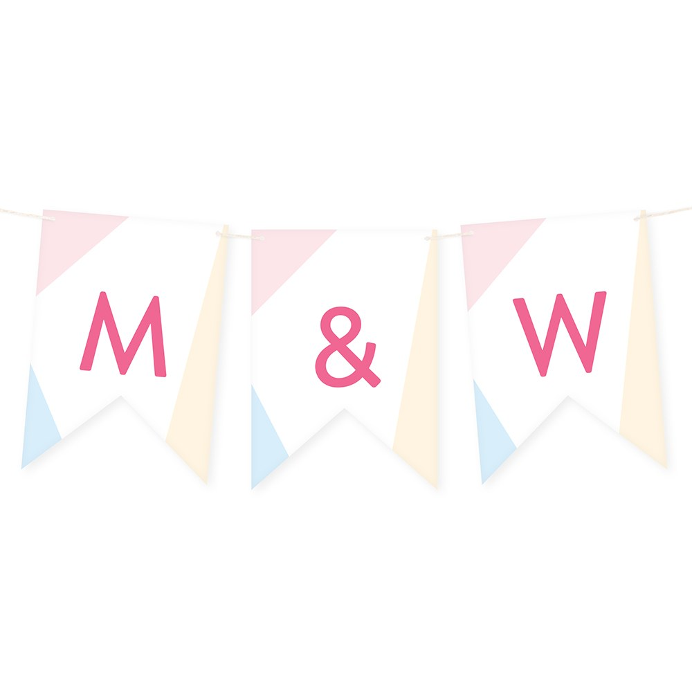 Custom Decorative Pennant Flag Party Bunting Banner - Summer Vibes
