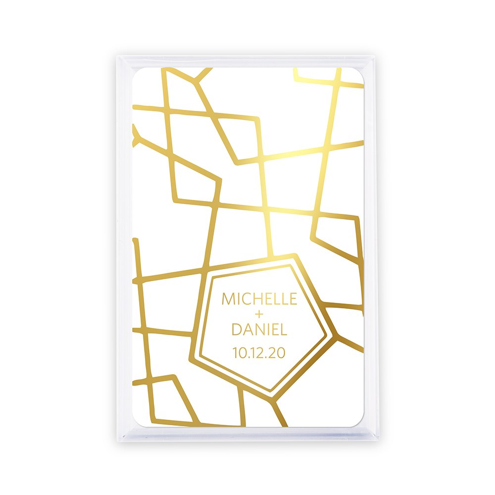 Personalized Playing Cards - Retro Luxe Foiled Print