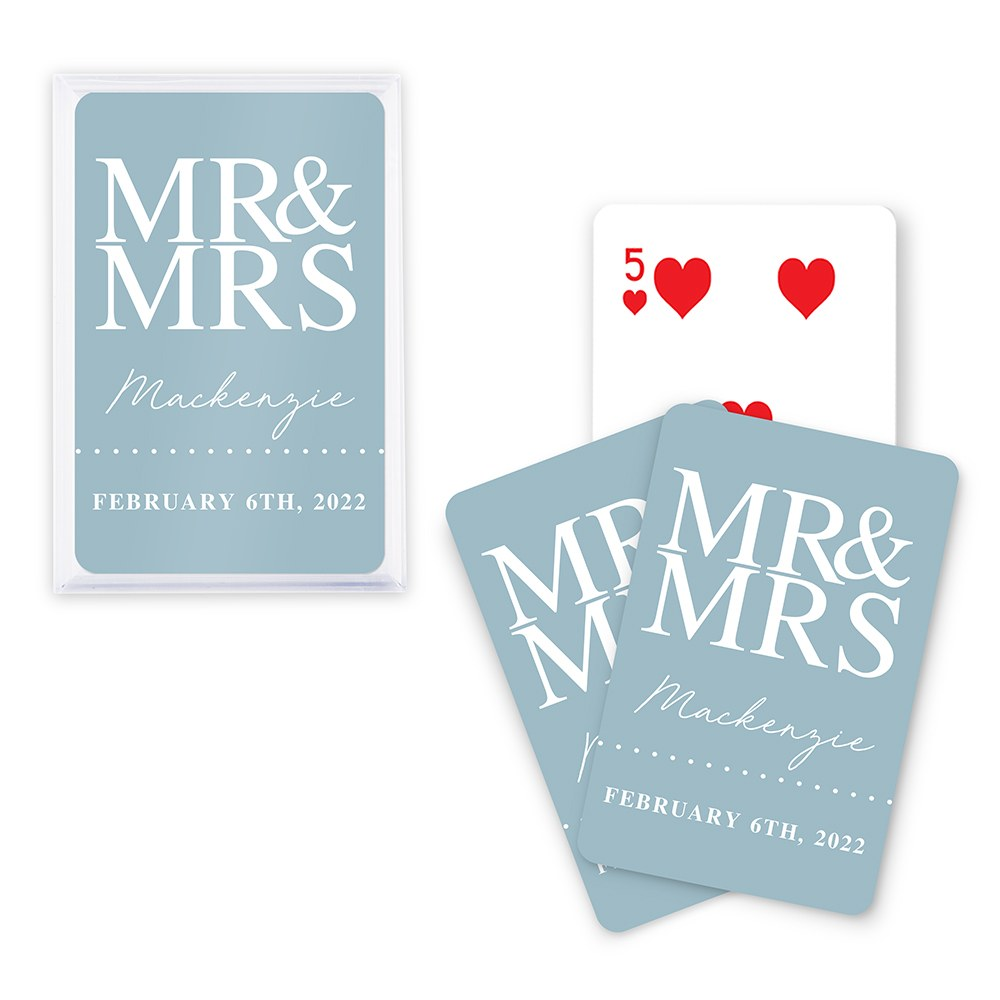 Unique Custom Playing Card Favor - Mr. & Mrs.