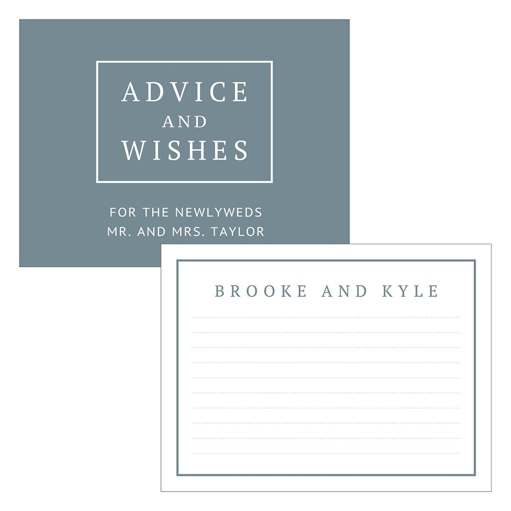 Personalized Wedding Advice Cards for The Bride and Groom - Rustic Love