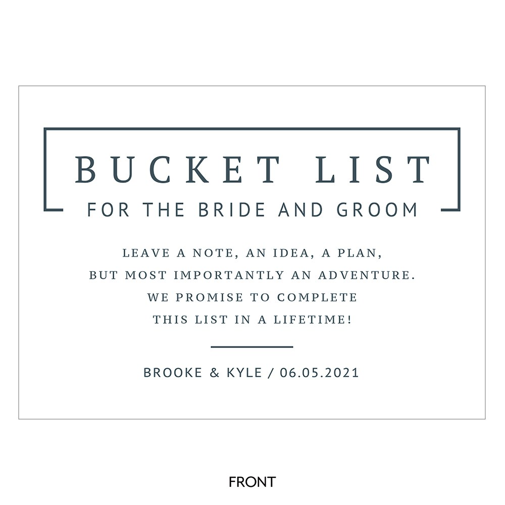 Personalized Sign for Bucket List Guest Book Alternative - Rustic Love