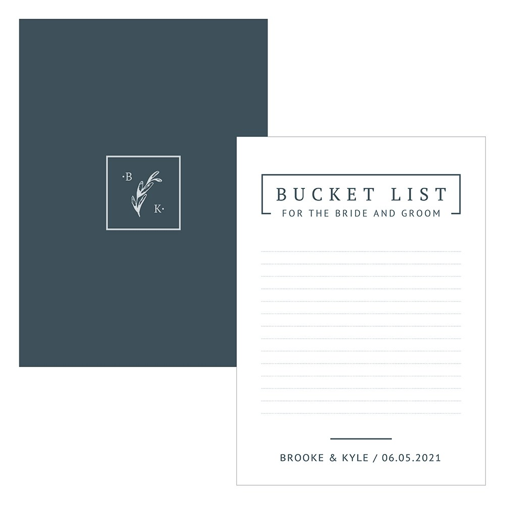 Personalized Wedding Bucket List Ideas and Suggestion Cards - Rustic Love