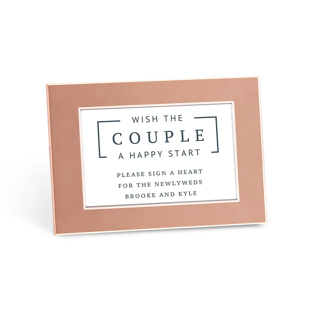 Personalized Couple Wishes Sticker Sign for Wedding Guest Book - Rustic Love