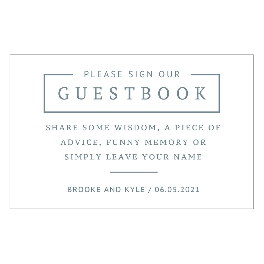 Personalized Sign Our Guestbook Sticker Sign for Wedding Guest Book - Rustic Love