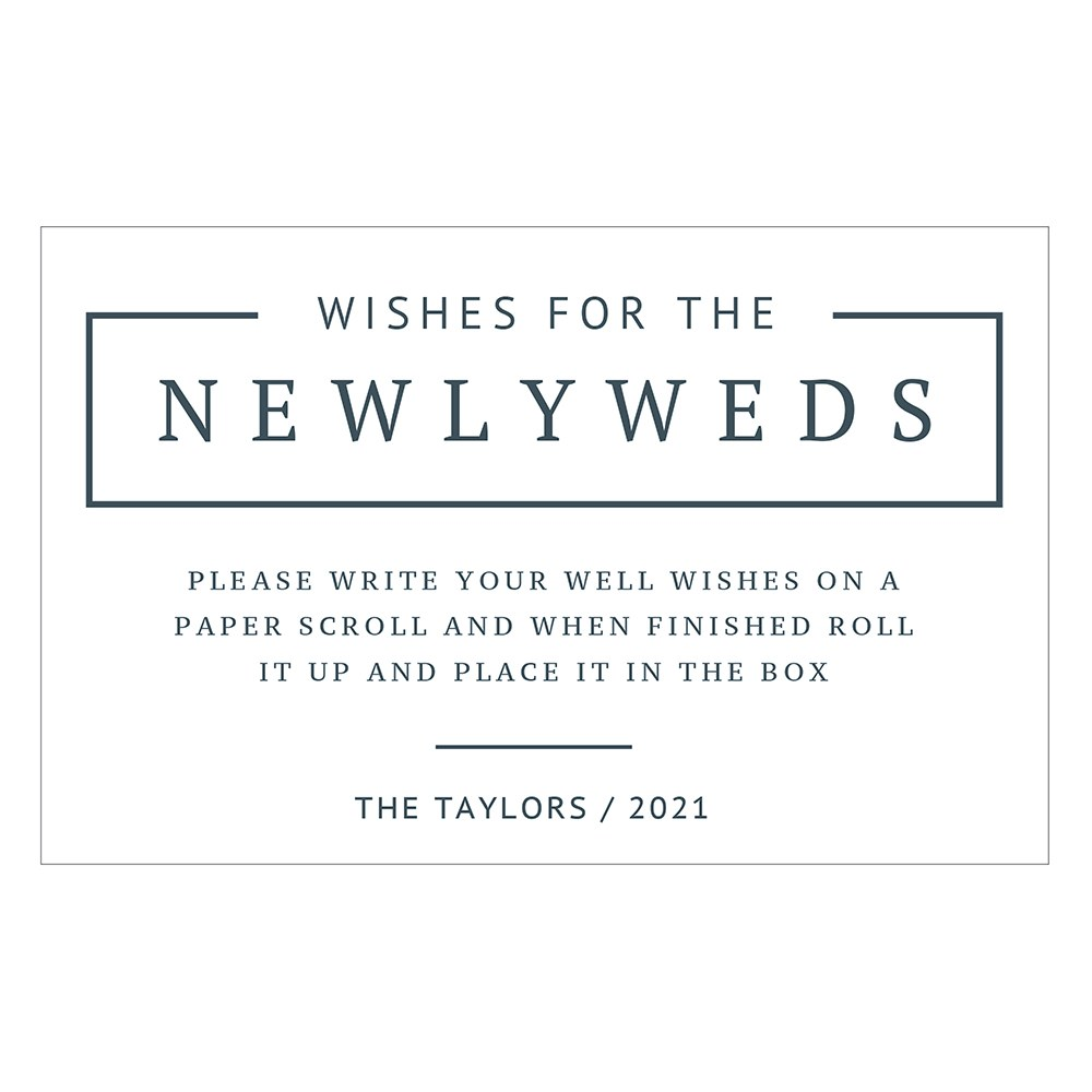 Personalized Wishes for Newlyweds Sticker Sign for Wedding Guest Book - Rustic Love