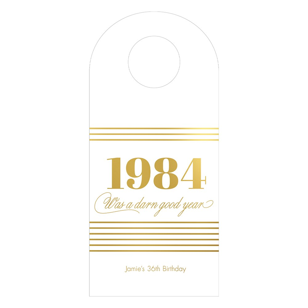 Personalized Wine Bottle Neck Hang Tags - Darn Good Year