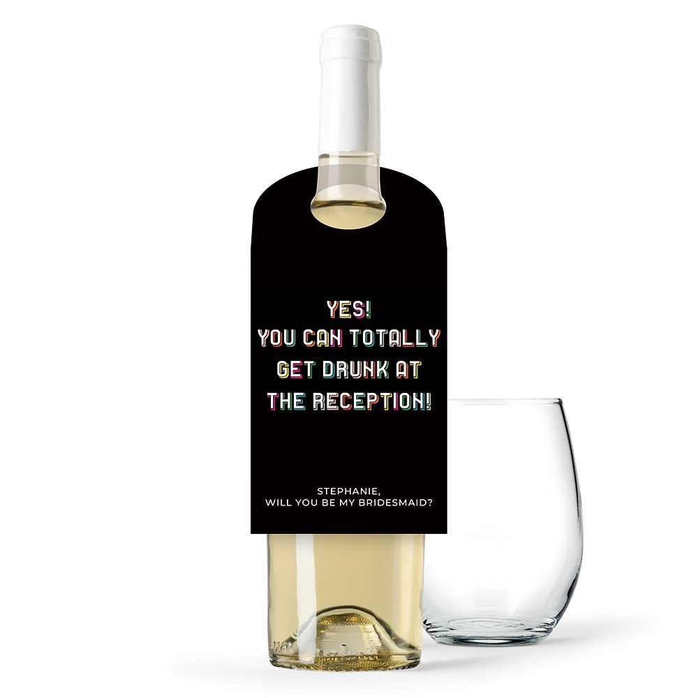 Personalized Wine Bottle Neck Hang Tags - Yes You Can