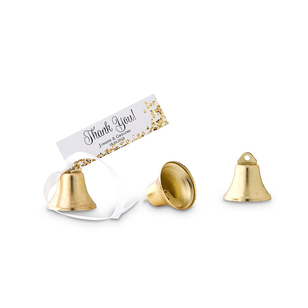 Miniature Gold Bell Wedding Favour