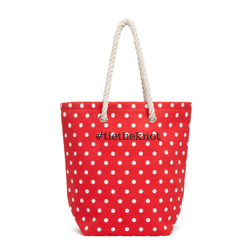 Large Custom Tote Bag - Red