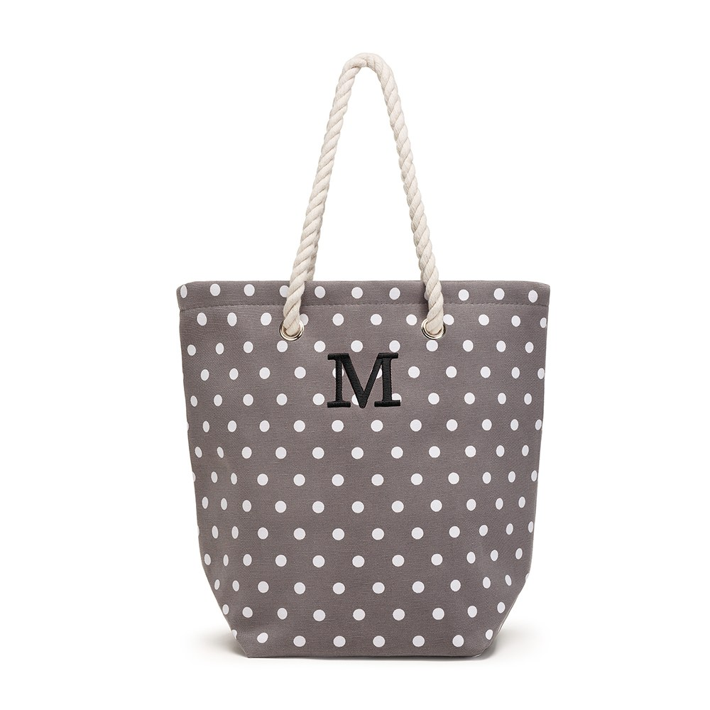 Large Custom Tote Bag - Gray