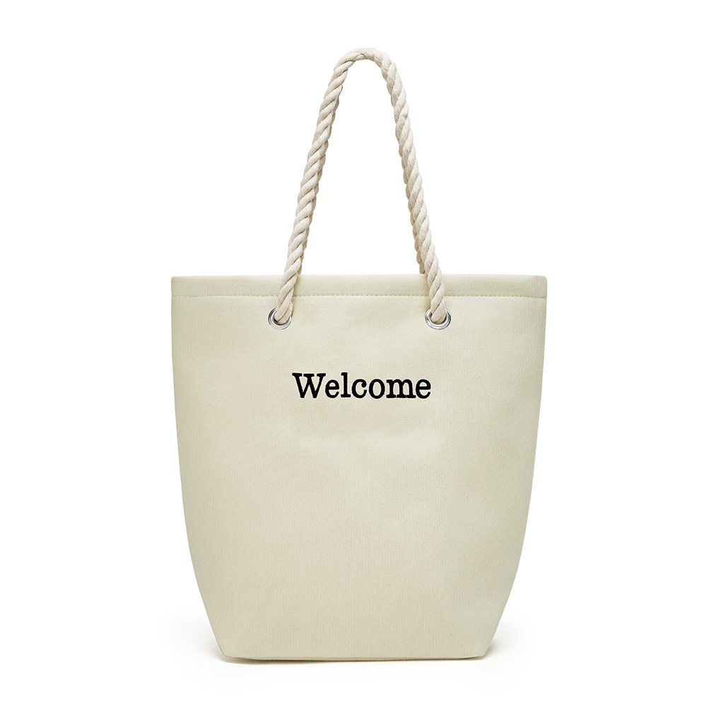 Large Custom Tote Bag - Natural