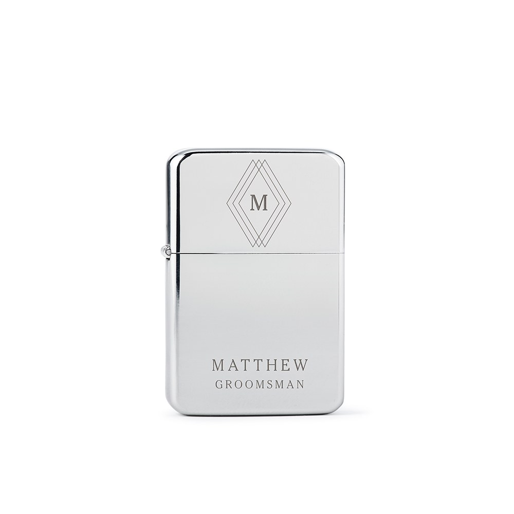 Classic Lighter - Triple Diamond Initial Etching
